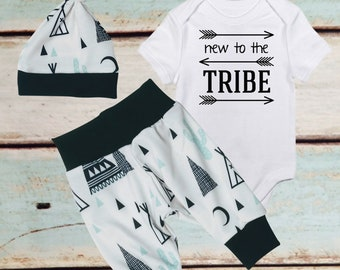 BABY BOY Coming Home outfit, Teepee, Tribal Clothing, mommy and me, Harem Pants, baby boy outfit, Little Brother Bodysuit, mindfulness gift