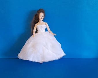 Dollhouse Miniature Wearable Heidi Ott Wedding Dress