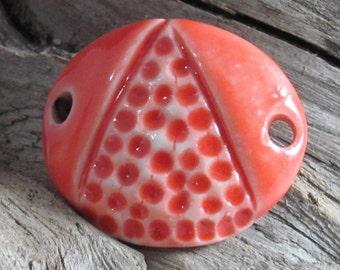 Curved Ceramic Bracelet bar in Orange