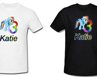 Rainbow Dash My Little Pony Personalized Birthday T Shirt