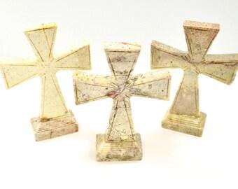 Soapstone Cross // Cross Carving // Stone Cross // Cross Decorator // Village Silversmith