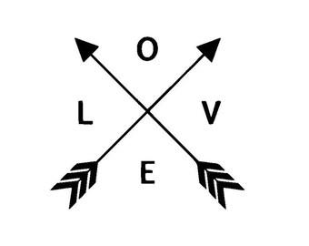 Love Arrows Vinyl Decal/Sticker