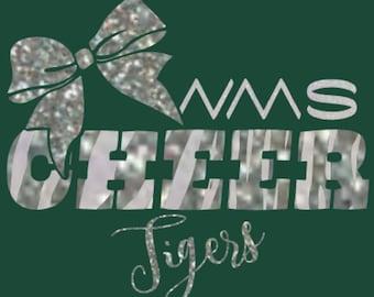 WMS Tigers Cheer Glitter Tee, hoodie, or tank