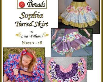 INSTANT DOWNLOAD: Sophia Tiered Skirt - DiY Tutorial PdF eBook Pattern - Sizes 2 to 16