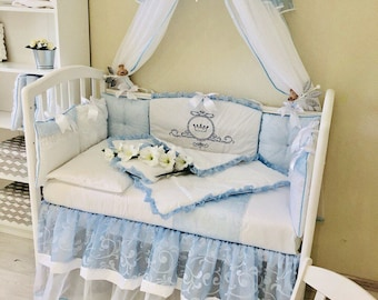 Custom Baby Bedding Crib Bedding Bedding Sets Crib Set Crib bedding set Crib Bumper Baby Bumper Pads Baby Bumper  Bed Canopy Kids Canopy