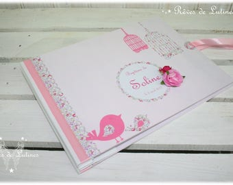 "TO order - guest book for wedding, baptism theme ""Bird"" liberty"