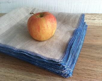 Pure Linen Napkins - Reusable Lunch Napkins - Each Sold Separately, Choose Your Quantity