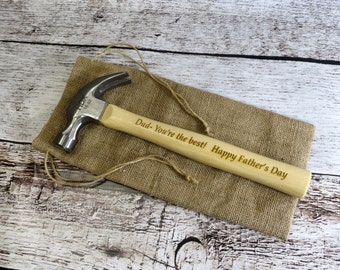 Personalized Wood Hammer - Fathers Day Gift - Gifts for Dad - Gifts for Men - Tools - Carpenter Gift- Wedding- Anniversary