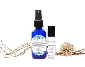 Sandalwood Vanilla Cologne - Artisan Perfume - Essential Oils - Sandalwood Oil - Roll On Perfume - Vanilla Blend Perfume - Unisex Fragrance