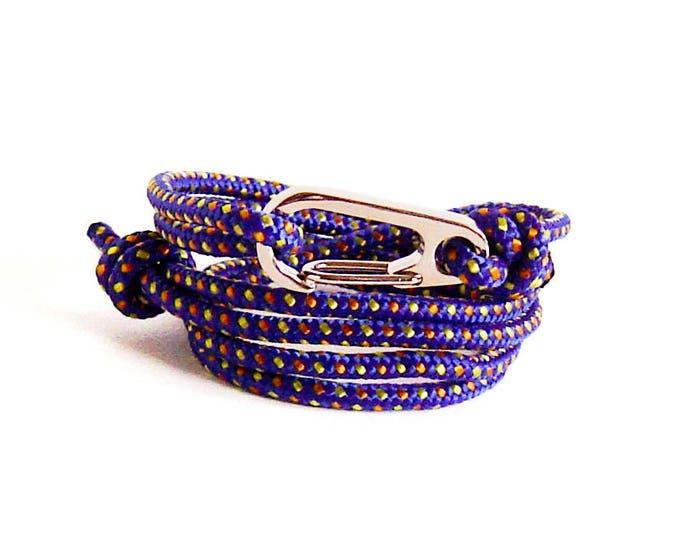 Mens Anchor Bracelet, Mens Bracelet, Woven Bracelet, Survival Bracelet