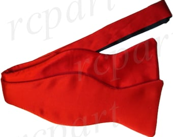 New Men's Silk Solid Red Self-Tie Bowtie, for Formal Occasions