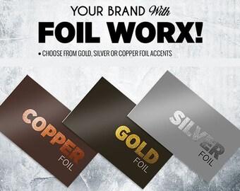 gold foil business cards / thick business cards / gold business cards / copper foil business cards / silver foil