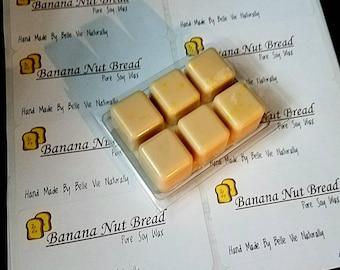 Banana Nut Bread Wax Melts- Pure Soy Wax- Banana Bread- Banana- Baking- Wax tarts- Fruit  Baking Candles-