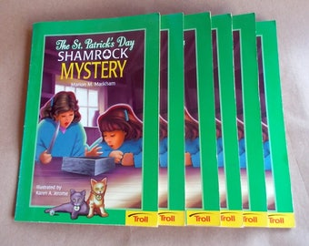 6 Books The St. Patrick's Day Shamrock Mystery All Books in VG Condition