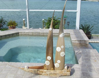 Palm Frond Seed Pod Sale Boat