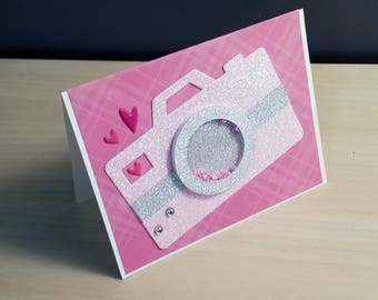 """4""""x6"""" Valentine's day Shaker Card - You captured my heart"""