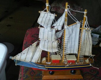 Vintage Sailing Ship Model