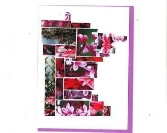 Minnesota Purple Flower Mosaic Card