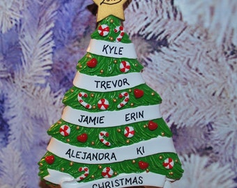 Personalized Grandparent's Tree Ornament