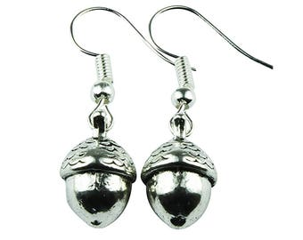 TFB - ACORN NUTS Dangle Earrings - Complete with gift box
