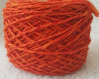 hand spun merino combed top singles yarn dk weight 3.8 ounces