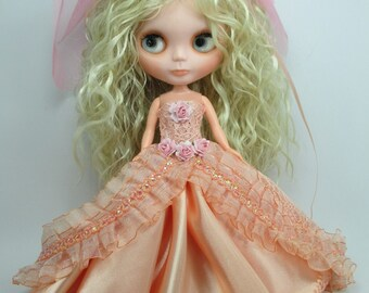 Outfit Clothing wedding gown dress with veils for Blythe doll 953-9