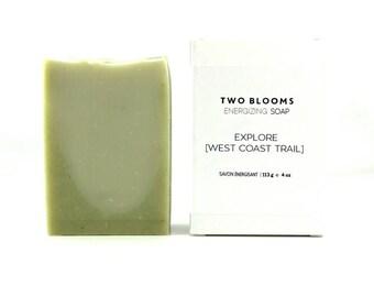 Palm free Pine soap, West Coast Trail essential oil soap, Soap for men, Fir Soap, Pine Soap, Cedar soap, Soap Victoria BC, Vancouver Island