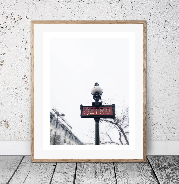 Paris Metro poster, Wall Art, Photography, Digital Download, Digital ...