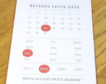 Save the Date or Invitation - Theme calendar - wedding