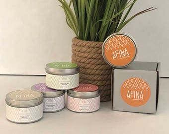 Natural Soy Candles - Hand Poured Soy Candles, Soy Candle Tin, Scented Soy Candles, Handmade Candles, Candles, Container Candles, Amber Mist