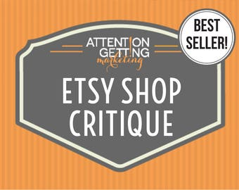 Etsy Shop Critique – BEST SELLER! Get a Personalized Written Critique of Your Shop with Actionable Tips, SEO Keywords & How to Sell on Etsy