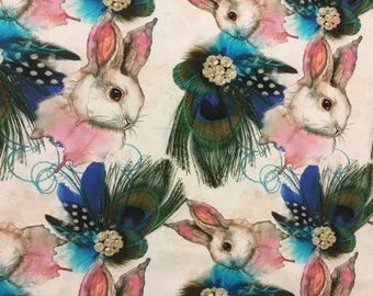 Bunnies Knitwear and Peacock digital feathers