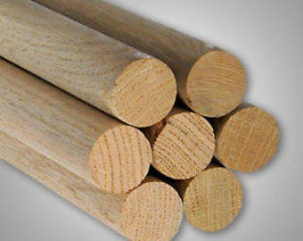Wood Dowels - Oak - Pack of 10