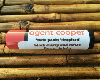 Agent Cooper lip balm - Twin Peaks-inspired lip balm - coffee and cherry flavored lip balm from Aromaholic