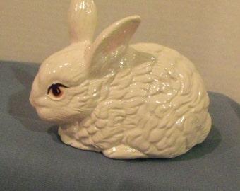 Rabbit in White Porcelain