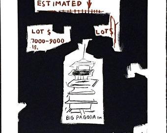 JEAN-MICHEL BASQUIAT - 'Big pagoda' - original lithograph on Arches paper - c1997 - rare (Basquiat Estate/Enrico Navarra Gallery, Paris)