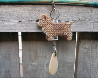 Glen of Imaal Terrier crate tag - hang anywhere art decorative accessory handmade by dog artist, Magnet option