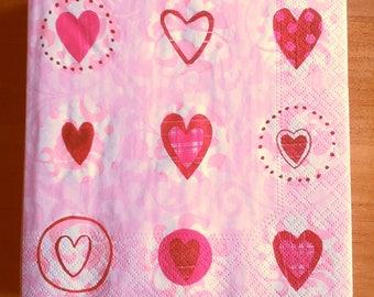 Hearts paper towel
