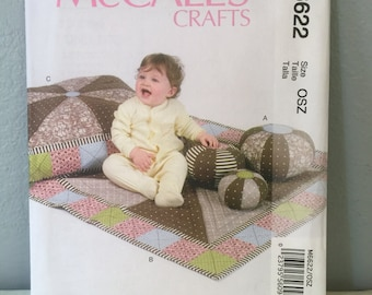McCalls Sewing Pattern M6622 Ball Mat and Pillow for Children or Babies