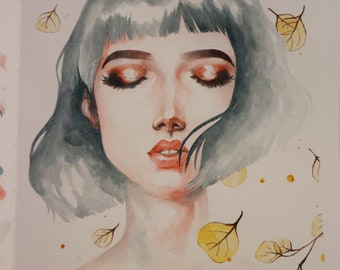 Illustration watercolor painting
