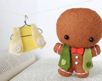PDF Pattern - Felt Gingerbread Man Ornament