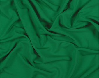 Green Matte Jersey, Fabric By The Yard