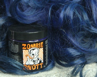"Zombie Snott ""Ballistic Blue"" BRAND NEW Long-Lasting hair color to DYE for! - 4oz jars"
