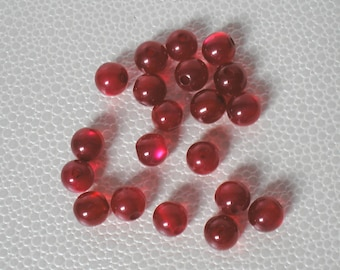 Round beads arylique dark red color set of 20