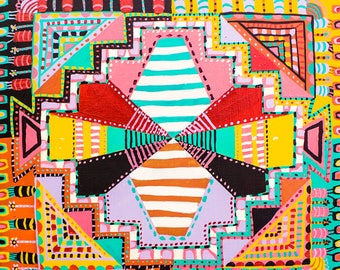 Geometric Quilt Painting