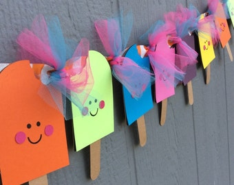 Popsicle Banner or Birthday Banner