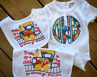 Appliqué baby gift set
