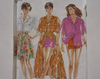 New Look Sewing Pattern 6716. Size 6 - 16. Complete. 1990s Fashion Style. Ladies Shirt, Skirt, Shorts. Skirt long or short.