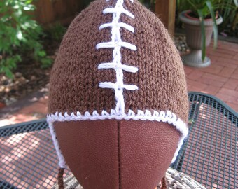 Earflap football hats.available... 1 to 3, 6 to 9 month