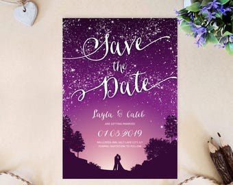 Wedding save the dates | Cheap save the date invitations invitations printed on shimmer paper